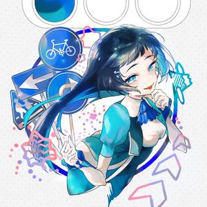 Traffic girl ポストカード 3種セット