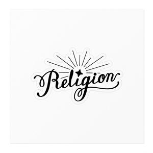 Religionロゴステッカー-黒