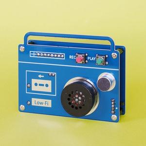 ラジカセ型ボイスレコーダー(Low-Fi Audio)