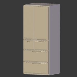 冷蔵庫3Dモデル