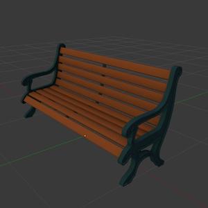 ベンチ 3Dモデル