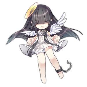 くろかみ天使ちゃん_アクリルキーホルダー