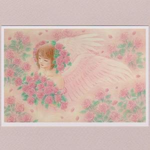 花の天使~バラ(ソフトピンク)~