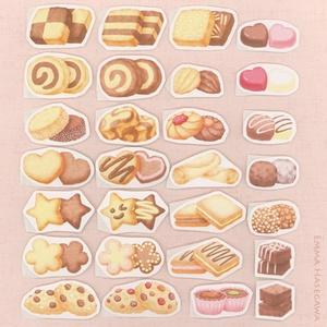 12/11再販★クッキーとチョコちょこっとのシール