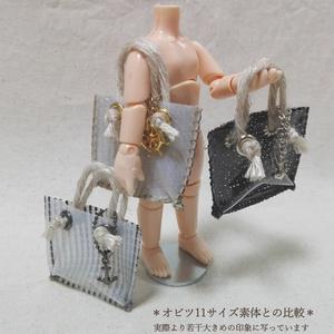 マリンチャーム・ビニールトートバッグ【ドール小物】 ☆☆夏前SALE☆☆