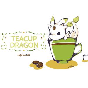 【ミニトート】ティーカップドラゴン(カフェオレ)