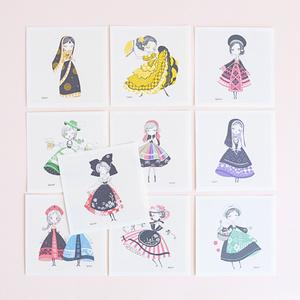 カードセットA 世界の民族衣装シリーズ