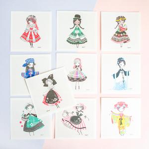 カード単品 世界の民族衣装シリーズ