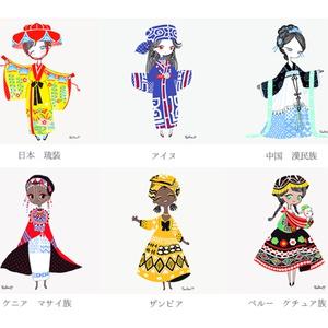 カードセットB 世界の民族衣装シリーズ