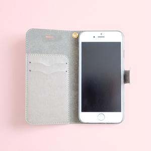 パステル臓器柄 iPhone手帳型ケース