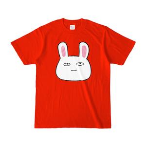 微笑みのうさぎ、真顔になるTシャツ(カラー)