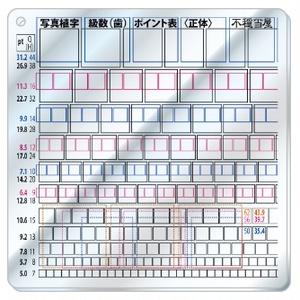 写真植字級数(歯)ポイント表〈正体〉 アクリルキーホルダー
