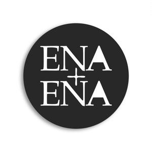 ENA+ENA ロゴデザイン缶バッジ