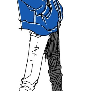 """Blue"" いけめんファッショニスタ モバイルバッテリー"