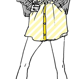 """""""Yellow"""" いけじょファッショニスタ iPhone ケース"""