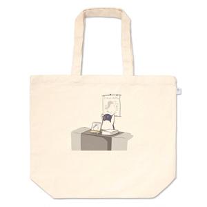 ワキから小石本を売るアデリーペンギントートバッグ