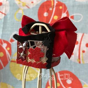 コナン10㎝ぬい服 和風ジャケット(赤)お面付