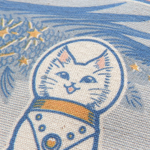 サコッシュ-ナチュラル『白猫印の宇宙食 おさかな味』宇宙を旅する白猫マイカシリーズ