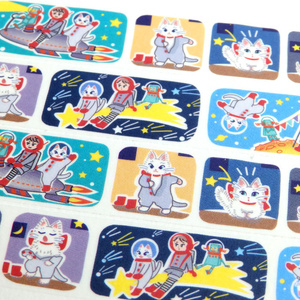 マスキングテープ『白猫マイカの宇宙旅行』宇宙を旅する白猫マイカシリーズ