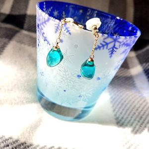 蜜ガラスのイヤリング