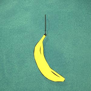 バナナモチーフピアス