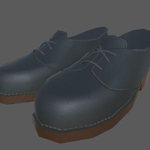 【Leather shoes】fbxモデル