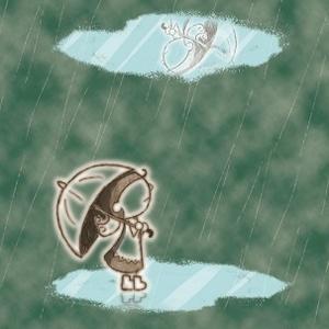 Mirage in summer rain
