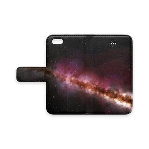 宇宙 手帳型iPhoneケース