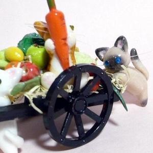 にゃんこのしっぽ○なかよしにゃんこの収穫祭〇ミニチュア〇ドールハウス〇野菜