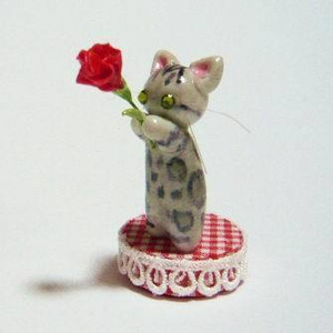にゃんこのしっぽ〇母の日〇カーネーション〇猫〇ベンガル