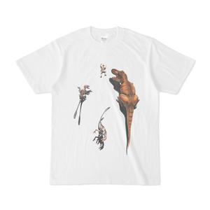 クライミング・ダイナソー ティラノサウルス&ダコタラプトル(Tシャツ)【恐竜グッズ】
