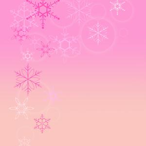 雪の結晶スマホリング(ピンク)