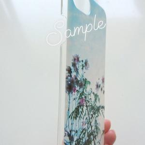 clear smartphone case  -midnight flower-