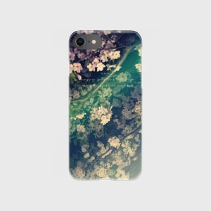 clear smartphone case  -midnight flower-
