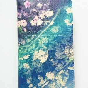 Book type Smartphone Case -midnight flower.- *No-Belt type