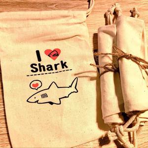 【コミティア122新作グッズ】I♥Shark巾着袋