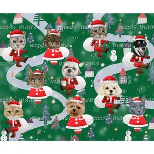 わんにゃんサンタのクリスマスポスター