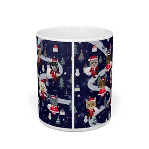 わんにゃんサンタのクリスマスマグカップ