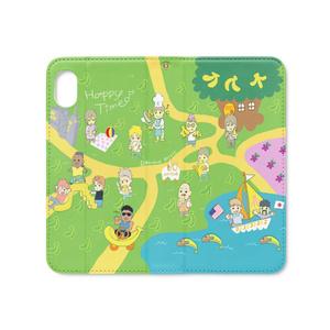 バナナピクニック手帳型iPhoneケース XR(ベルトなしマグネット)