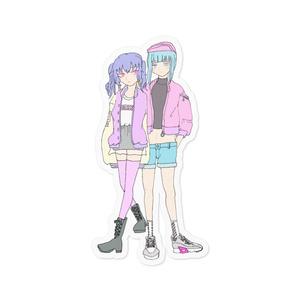 優美と柚綺Trendyステッカー