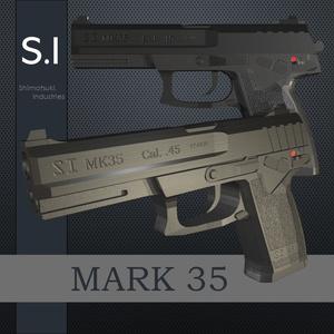 【3Dモデル】SI_MK35ハンドガン【射撃機能付き】