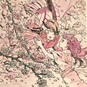 ミニ色紙「春の終わり。」