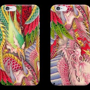 和柄iPhoneケース 『鳳凰と龍』