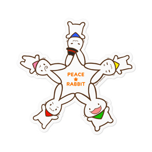 PEACE★RABBIT ステッカー