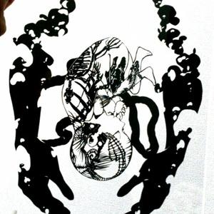 【切り絵】胎児の夢