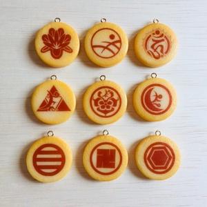 続・とうらぶプリントクッキーストラップ(刀紋ver.)