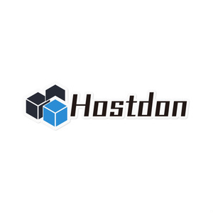 Hostdonステッカー (透過 枠有り 大)