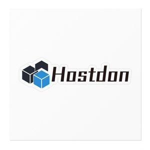 Hostdonステッカー (透過 枠有り 中)