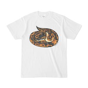 ボールパイソン白Tシャツ(フロントプリント)