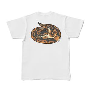ボールパイソン白Tシャツ(バックプリント)